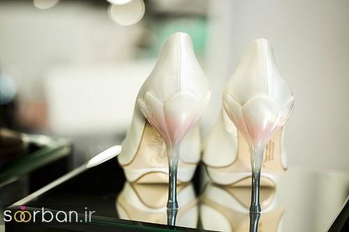 کفش عروس سفید بسیار شیک-4