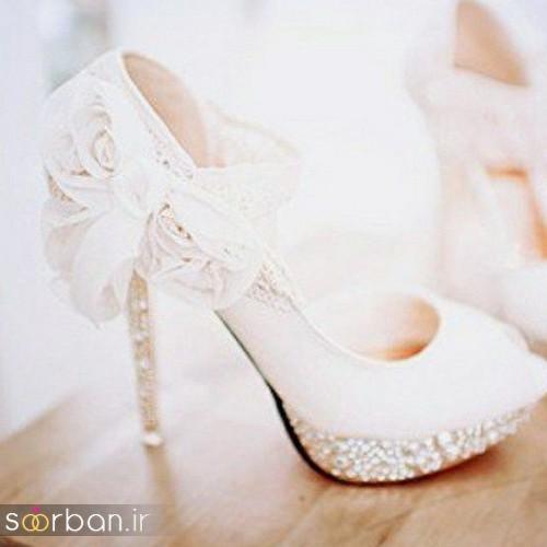 کفش عروس سفید بسیار شیک-5