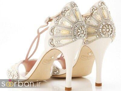 کفش عروس سفید بسیار شیک-9