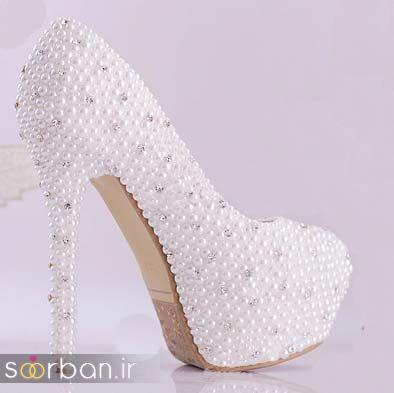کفش عروس سفید بسیار شیک-11