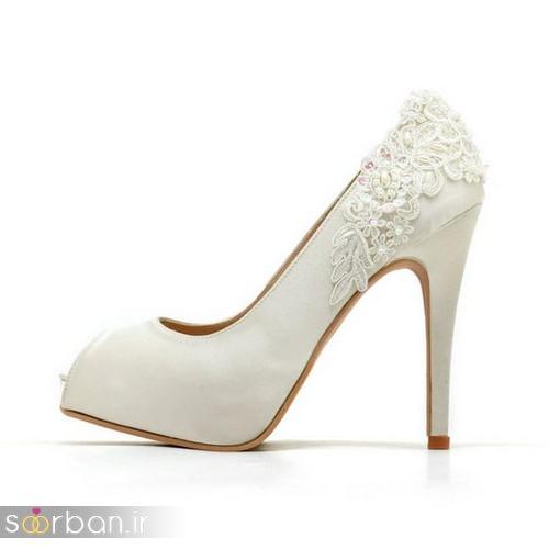 کفش عروس سفید بسیار شیک-12