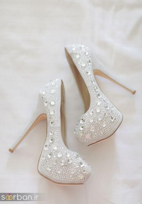 کفش عروس سفید بسیار شیک-13