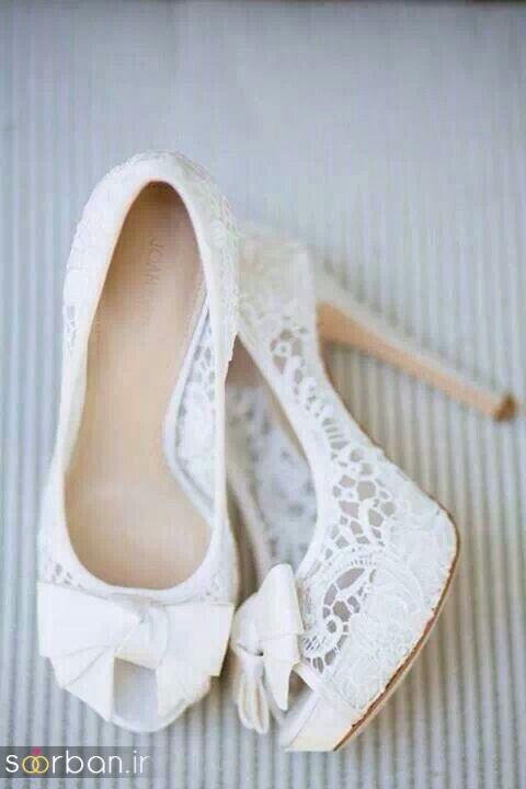 کفش عروس سفید بسیار شیک-14