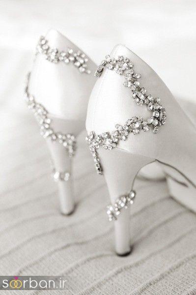 کفش عروس سفید بسیار شیک-16