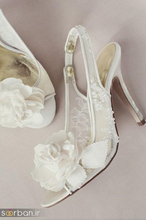کفش عروس سفید بسیار شیک-20