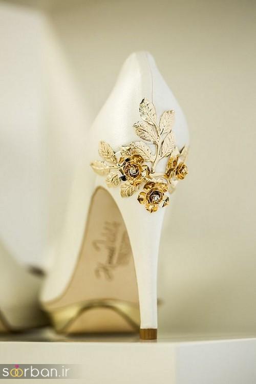 کفش عروس سفید بسیار شیک-21