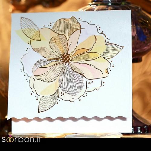 کارت عروسی زیبا و خاص به سکل گل