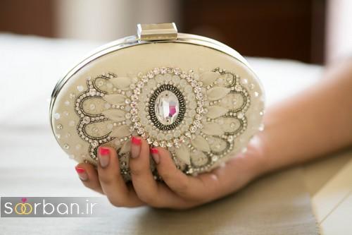 کیف عروسی 2017 کوچک نگین دار