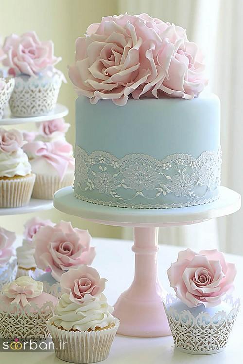 عکس کاپ کیک عروسی 2017 شیک و زیبا