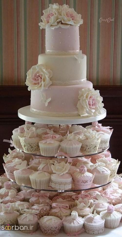 کاپ کیک وانیلی عروسی 2017