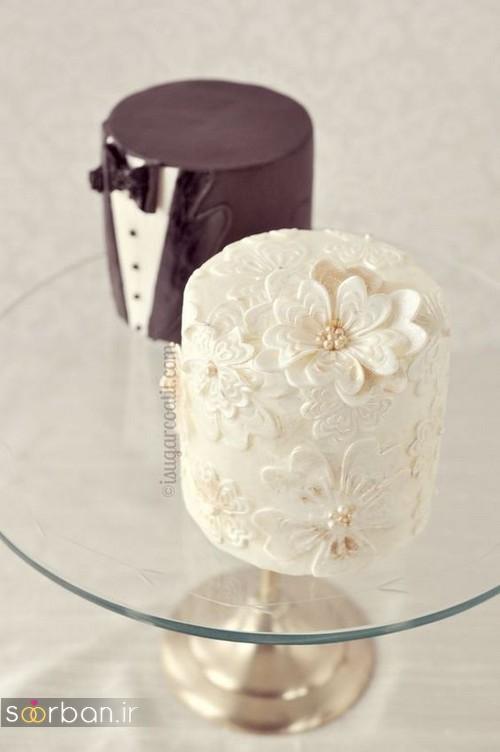 کاپ کیک عروس و داماد 2017