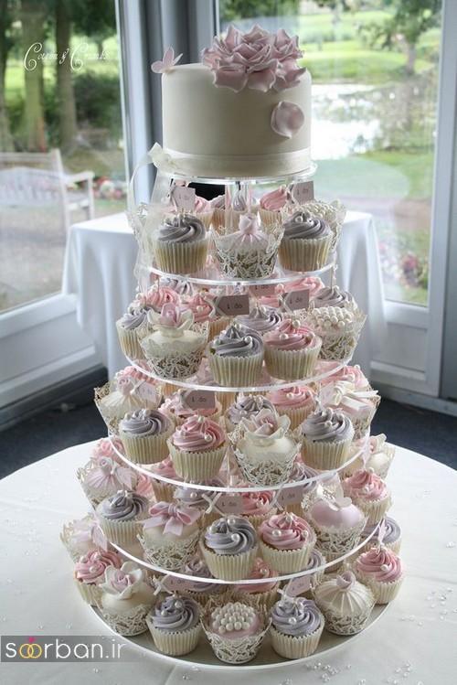 عکس کاپ کیک عروسی خوشگل