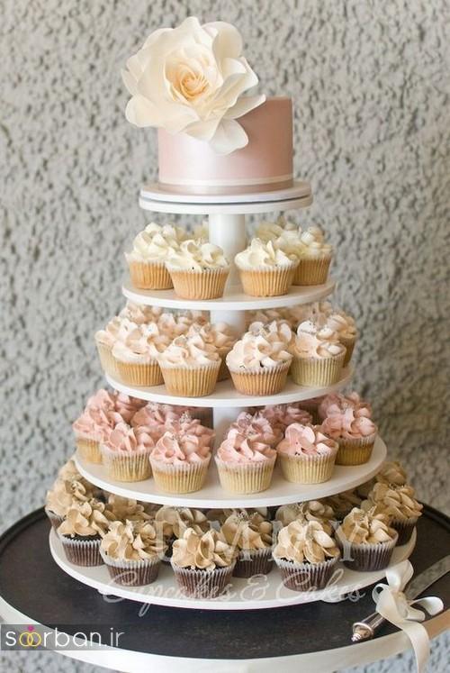 کاپ کیک عروسی 2017 شیک