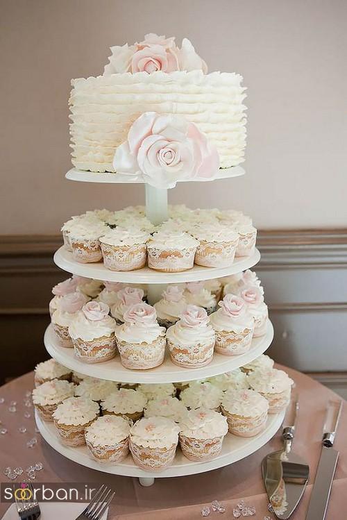 کاپ کیک عروسی زیبا 2017