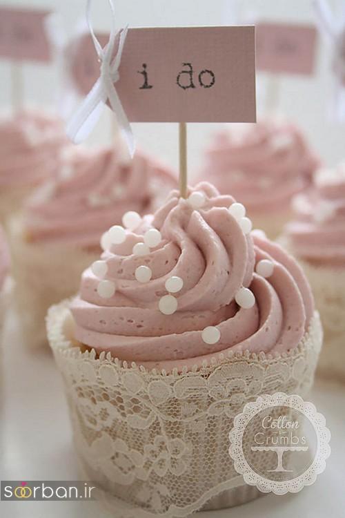 کاپ کیک عروسی جدید و خاص و زیبا 2017