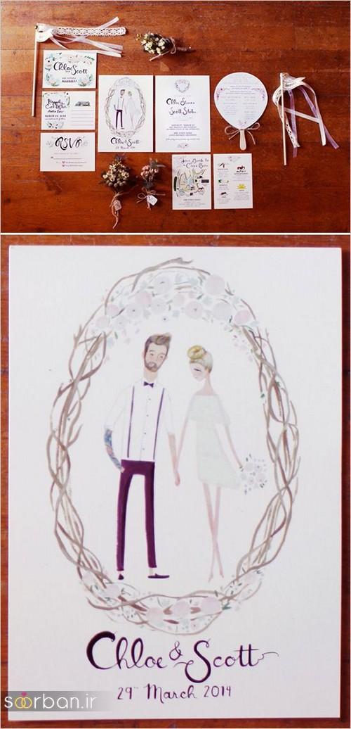 کارت عروسی فانتزی و زیبا-20