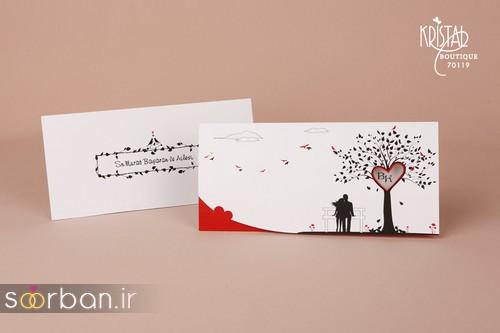 کارت عروسی ترک زیبا و جدید فانتزی کریستال