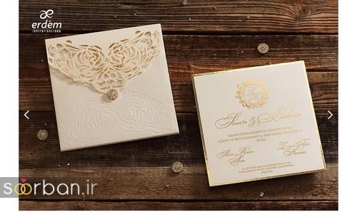 مدل کارت عروسی ترک طلایی