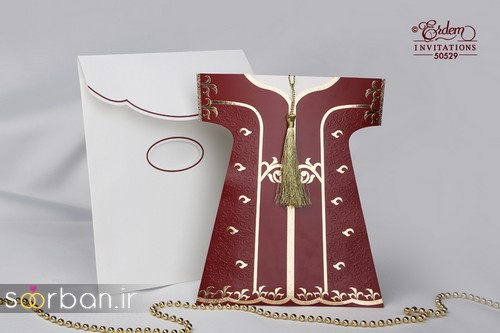 مدل کارت عروسی ترک قرمز