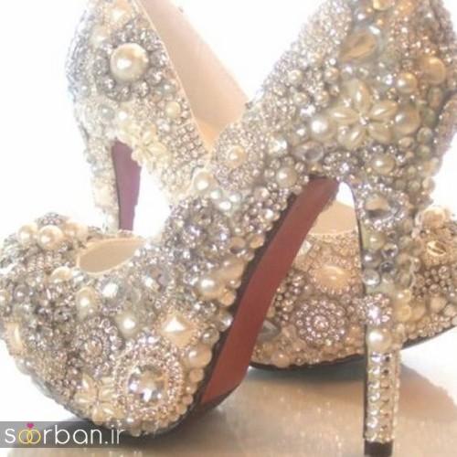 کفش عروس پاشنه بلند 2017-14