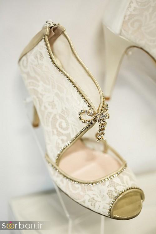 کفش عروس پاشنه کوتاه زیبا-1
