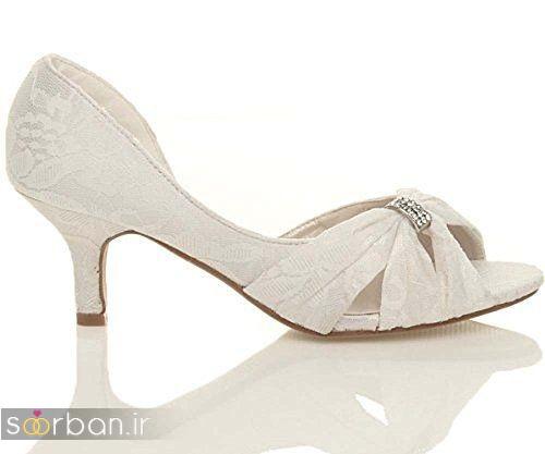 کفش عروس پاشنه کوتاه زیبا-03