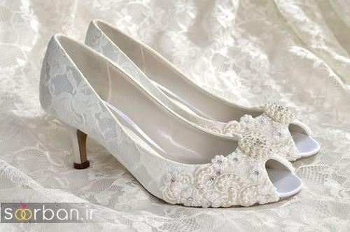 کفش عروس پاشنه کوتاه زیبا-4