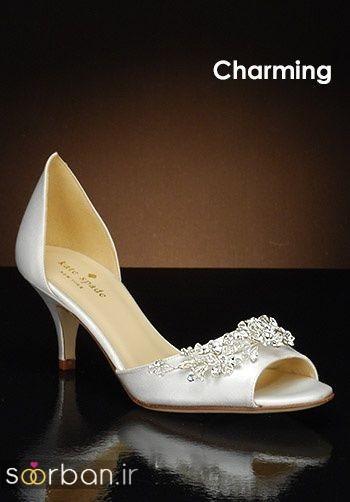 کفش عروس پاشنه کوتاه زیبا-5