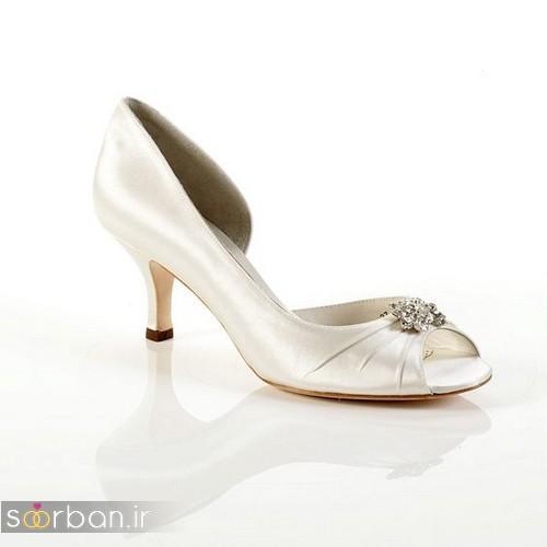 کفش عروس پاشنه کوتاه زیبا-6