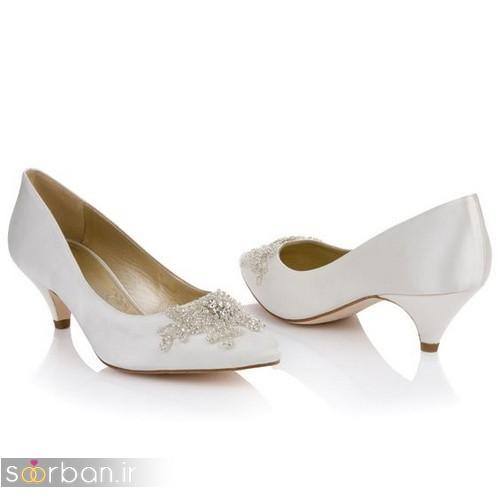 کفش عروس پاشنه کوتاه زیبا-07