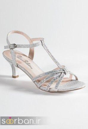 کفش عروس پاشنه کوتاه زیبا-8
