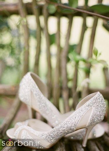 کفش عروس پاشنه کوتاه زیبا-9