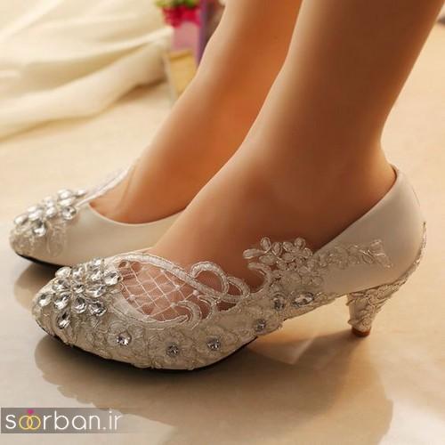 کفش عروس پاشنه کوتاه زیبا-10