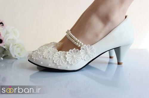 کفش عروس پاشنه کوتاه زیبا-11