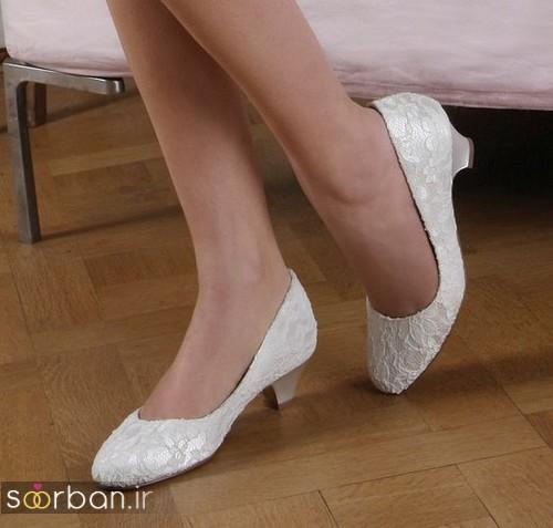 کفش عروس پاشنه کوتاه زیبا-13