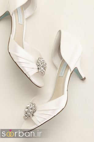 کفش عروس پاشنه کوتاه زیبا-14