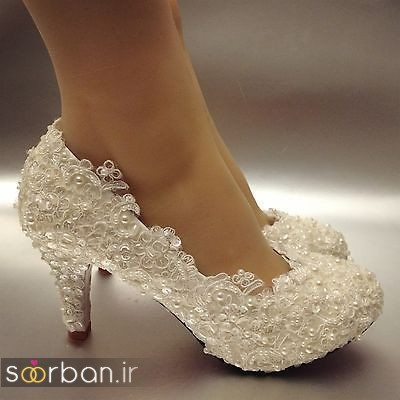 کفش عروس پاشنه کوتاه زیبا-15