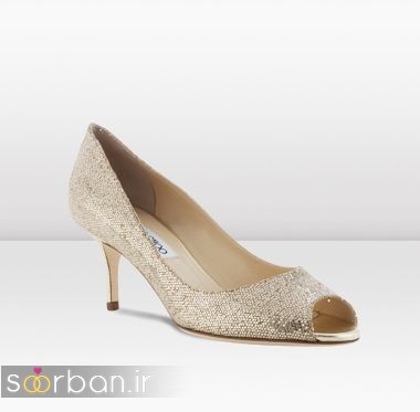 کفش عروس پاشنه کوتاه زیبا-16