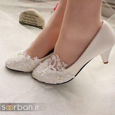 کفش عروس پاشنه کوتاه زیبا-17