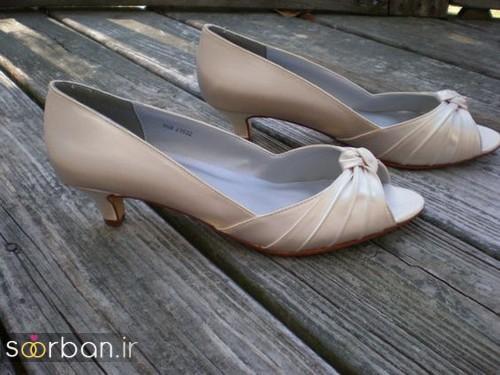 کفش عروس پاشنه کوتاه زیبا-20