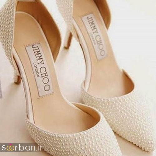 کفش عروس پاشنه کوتاه زیبا-22
