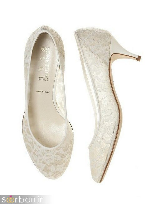 مدل های کفش عروس پاشنه کوتاه زیبا