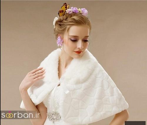 مدل های کت و شنل حجاب لباس عروس