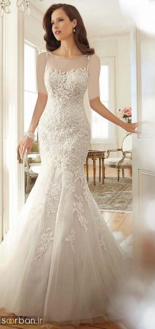 لباس عروس مدل ماهی فوق العاده8