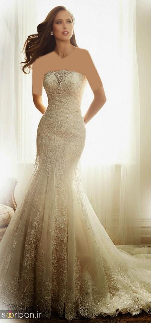 لباس عروس مدل ماهی فوق العاده9