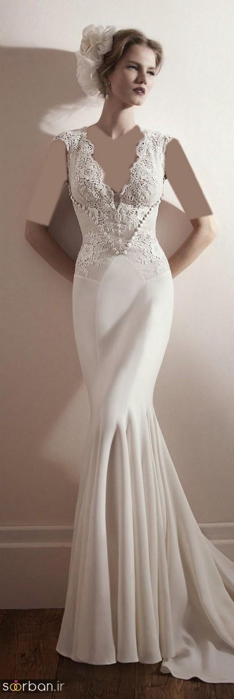 لباس عروس مدل ماهی فوق العاده13