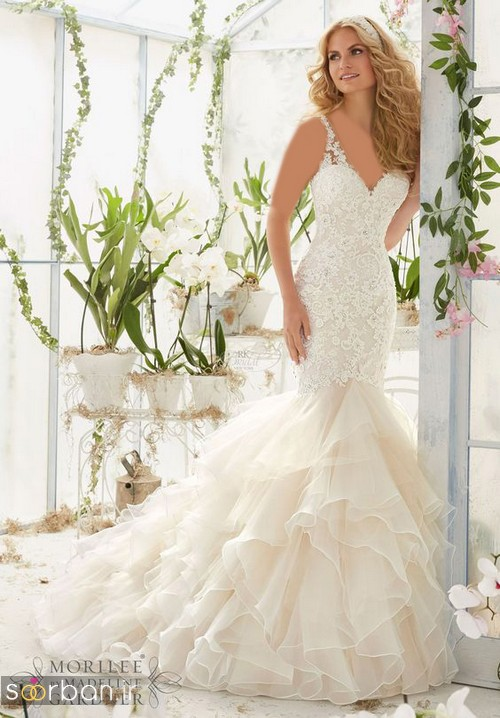 لباس عروس مدل ماهی فوق العاده17