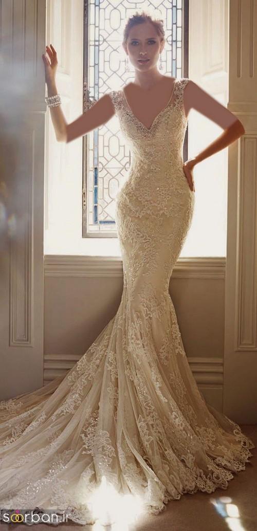 لباس عروس مدل ماهی فوق العاده21