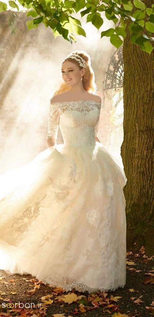 لباس عروس آستین سه ربع1