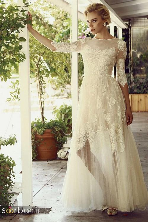 لباس عروس آستین سه ربع3